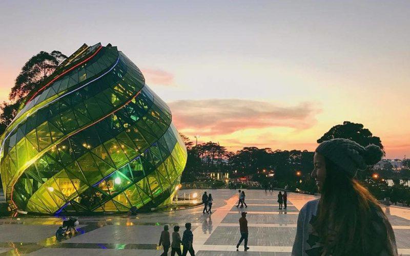 Hoàng hôn nơi quảng trường Lâm Viên lộng lẫy